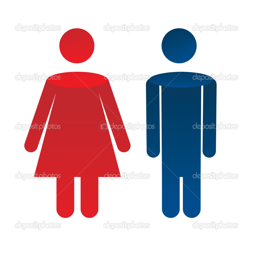Man woman icon - vector illustration — Stock Vector #2854995