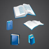 Set of book icons — Stock Vector
