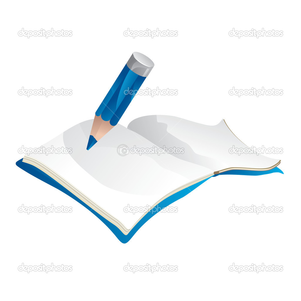 Writing pencil - vector illustration — Stock Vector #2861125