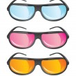 Vector glasses in different colors - Stock Vector