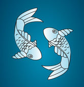 Vector japan fish — Stock Vector