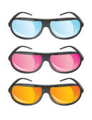 Vector glasses in different colors — Stock Vector