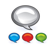 Chat bubbles icons — Stock Vector
