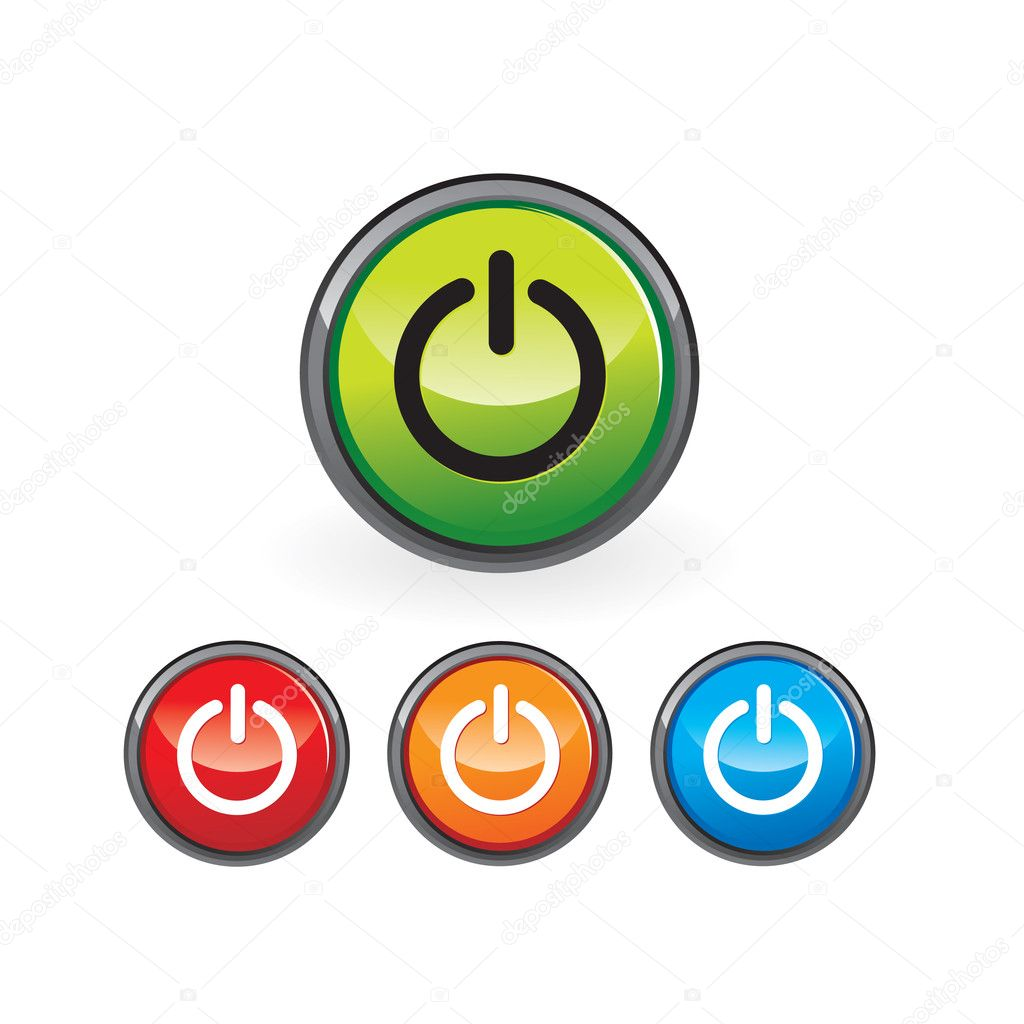Power button — Stock Vector #2893896