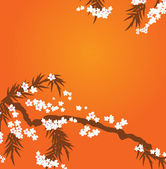 Japanese cherry tree background — Stock Vector