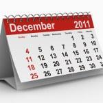 2011 year calendar. December — Stock Photo