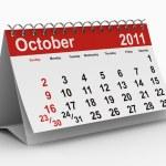 2011 year calendar. October — Stock Photo