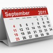 Royalty-Free Stock Photo: 2011 year calendar. September