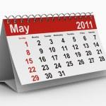 2011 yılı takvimi. Mayıs — Stok fotoğraf