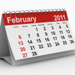 2011 year calendar. February — Stock Photo