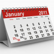 2011 year calendar. January — Stock Photo