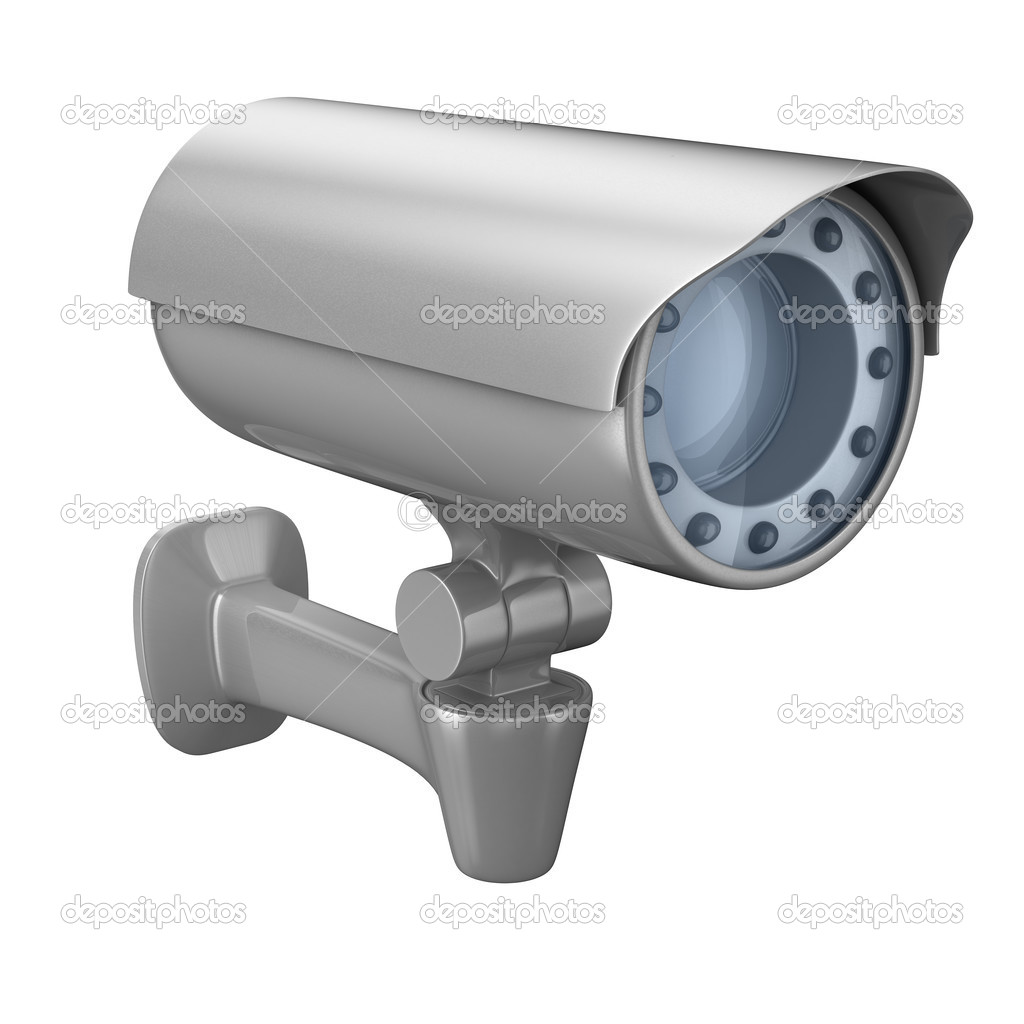 Security camera on white background. Isolated 3D image — Stock Photo #2866634