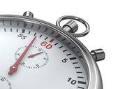 Cronometro su sfondo bianco — Foto Stock