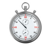 Stopwatch on white background — Photo