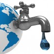 Water stocks on earth. Isolated 3D image — Stock Photo
