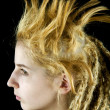 Strange hairdo — Stock Photo