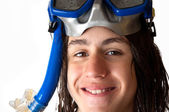 Young diver — Stock Photo