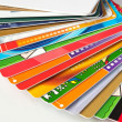 Stock Photo: Giftcards and credit cards