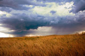 Dark cloudy stormy sky — Stock Photo
