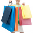 happy woman with shopping bags — Stock Photo