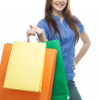 Royalty-Free Stock Photo: Beauty shopping woman with clored bags