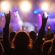Cheering crowd at concert — Stock Photo #3404904