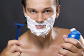 Bell'uomo barba — Foto Stock