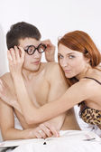 Sexy couple — Stock Photo