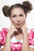 Woman making a funny face — Stock Photo