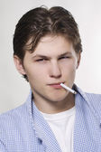 Man smoking a cigarette — Stock Photo