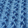 The blue knit wool — Stock Photo