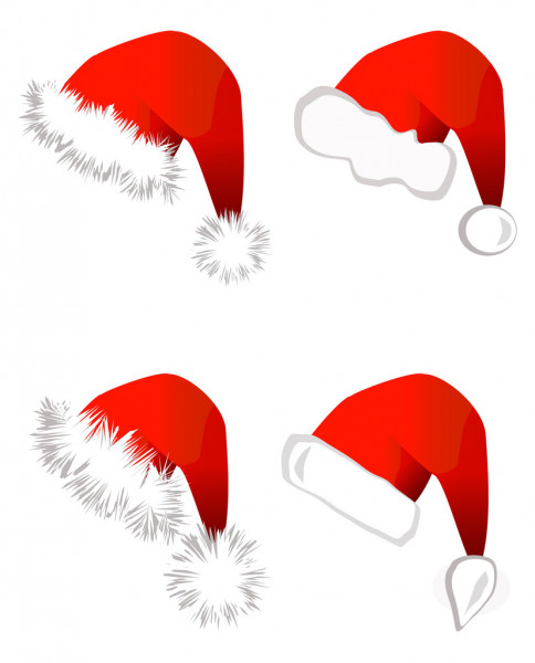 santa claus hat — Stock Vector