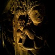 Interior of an ancient cave temple - Foto Stock