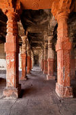 Interior of an ancient Indian temple — Stock Photo