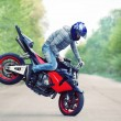 Stunt rider — Stock Photo