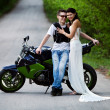 Biker's girlfriend — Stock Photo
