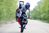 Stunt rider — Stock Photo
