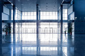 Brede blauwe zaal — Stockfoto