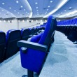 Blue chairs rows — Stock Photo