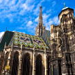St. Stephan cathedral in center of Vienna — Stockfoto