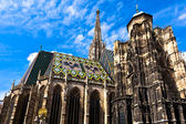 St. Stephan cathedral in center of Vienna — Stock Photo