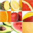 colorful fruit collage — Stock Photo