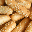 Close-up of cookies with sesame — Stock fotografie