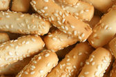 Close-up of cookies with sesame — Stock Photo