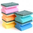 Multicolored sponges — Stock Photo