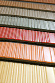 Collection multicolored linoleum — Stock Photo
