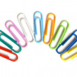 Multicolored paper clips - Stock Photo