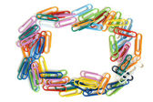 Multicolored paper clips — Stock Photo