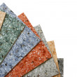 Collection multicolored linoleum - Stock Photo