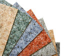 Collection multicolored linoleum — Stock Photo